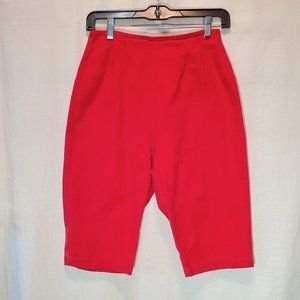 Vintage Red 50's Style Shorts Small